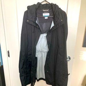 COLUMBIA Raincoat Built-in Belt & Hood Lightweight